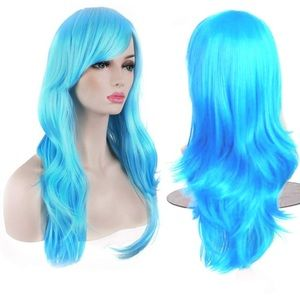 BRAND NEW- light blue wig- WITH hair/net cap